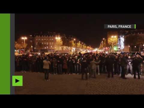 Manifestation nocturne à Paris : la police proteste contre les violences anti-policières