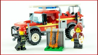 LEGO CITY 60231 Fire Chief Response Truck Toy Speed Build