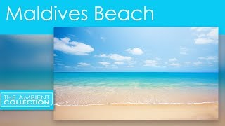 Tropical Beach Video  - Relax  with a White Sandy Beach From The Maldives With Ocean Sounds