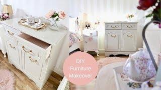 DIY furniture makeover, Cottage style cabinet makeover