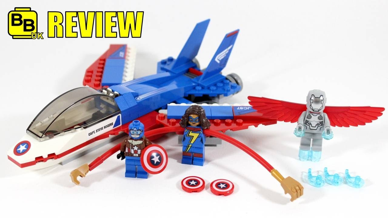LEGO MARVEL CAPTAIN AMERICA JET PURSUIT 76076 SET REVIEW ...
