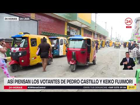 Download 24 Horas en Lima: así piensan los votantes sobre Pedro Castillo y Keiko Fujimori