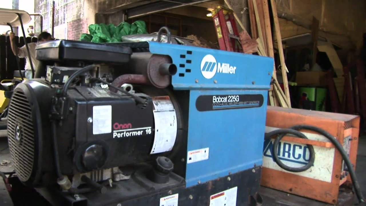 maxresdefault miller bobcat 225g welder generator youtube miller bobcat 250 wiring diagram at gsmx.co