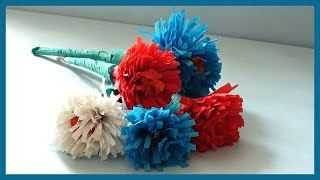 DIY Crafts Paper Flowers Beautiful & Simple| How to make Easy Flowers with Crepe Paper.