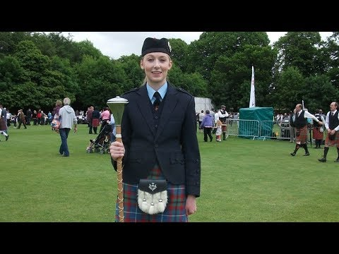 Drum Majors in Pipe Band Championship In Lurgan Park
