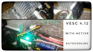 VESC 4.10/4.12 With Active Auto Cooling Heat Sink (DIY). Теплоотвод