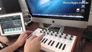 Arturia MiniLab com o باد - MusicApps.com.br