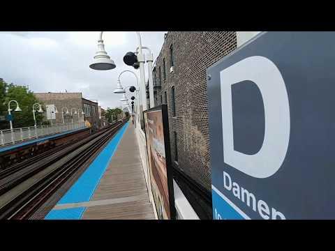 Damen CTA Blue Line stop video #2 Chicago