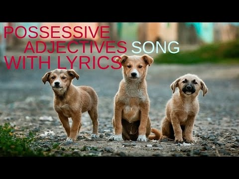 Possessive adjectives and pronouns song Lesson 5 - Basic level english