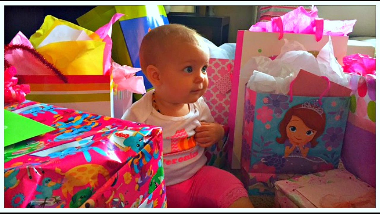 Biggest Opening Birthday Presents Happy First Veronica
