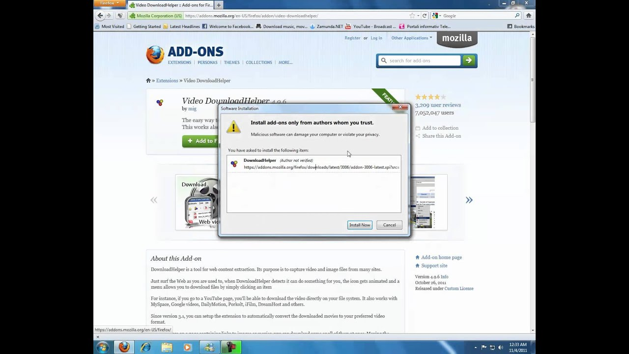 firefox addon video download