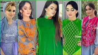 Durli matalardan turkmen moda koynek fasonlar 2021 / women dress / fasonlar 2021 2022