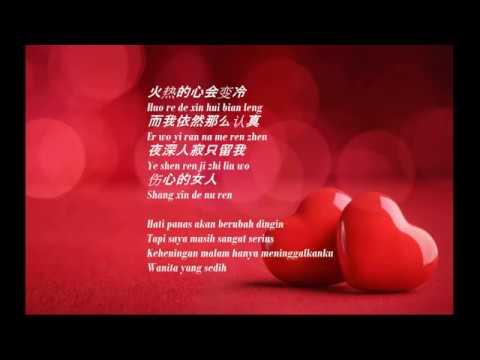 [Indo Sub] Rong Yi Shou Shang De Nu Ren -lyric 容易受伤的女人 Hanyu Pinyin