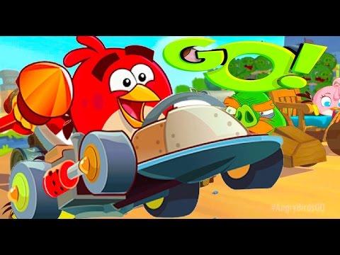 Веселая мультик игра про машинки для детей. ВЕСЕЛАЯ КРУТАЯ ГОНКА! Angry Birds Go! мультяшные герои
