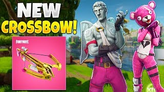 NEW CROSSBOW WEAPON & VALENTINE SKINS! // NEW FORTNITE UPDATE!