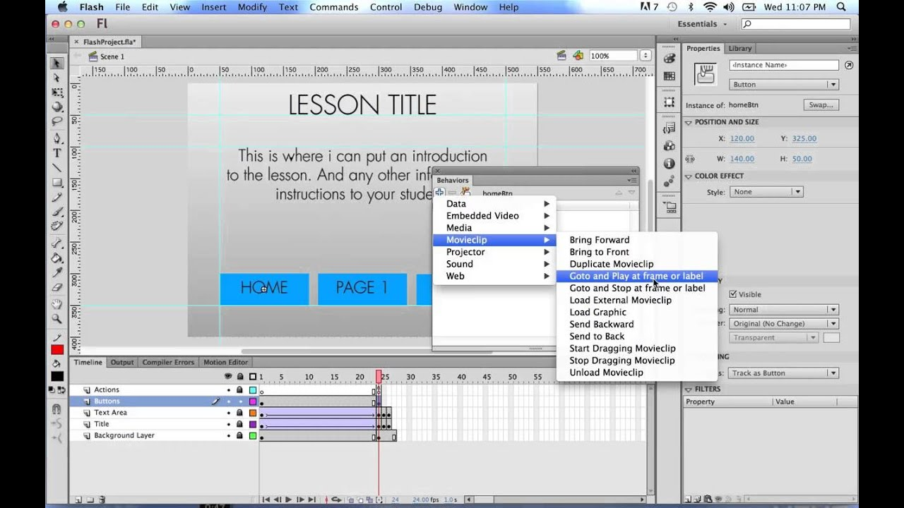 Flash CS6 Tutorial: PART 2- Educational App Design with Action Script 2 0