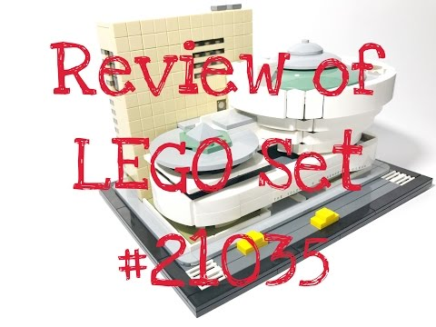 Review of LEGO Architecture Set #21035 Solomon R Guggenheim Museum!