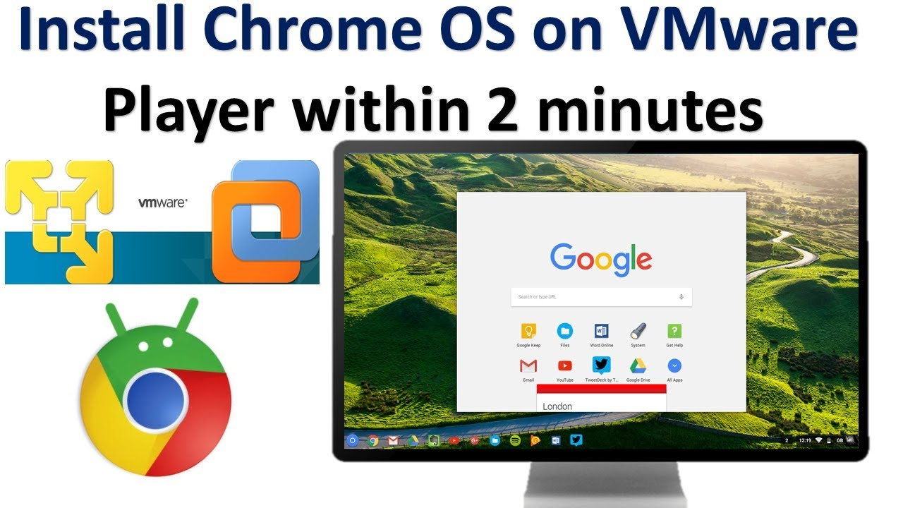 How to Install Chrome OS (CloudReady) on VMWare install Chrome OS on VMware  Player within 2 minutes