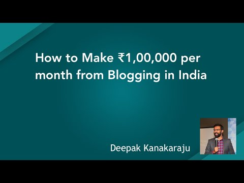 How To Make ₹1,00,000 Per Month From Blogging In India