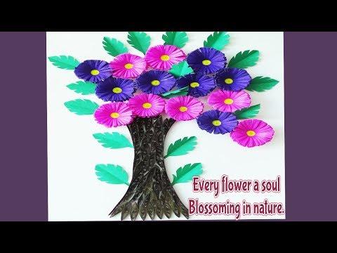 DIY || Paper Making Flower Tree ||  Paper Quilling Flower Tree || Siri Art&Craft ||