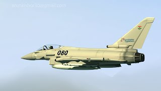 3d Eurofighter combat aircraft showreel by Arun kishor