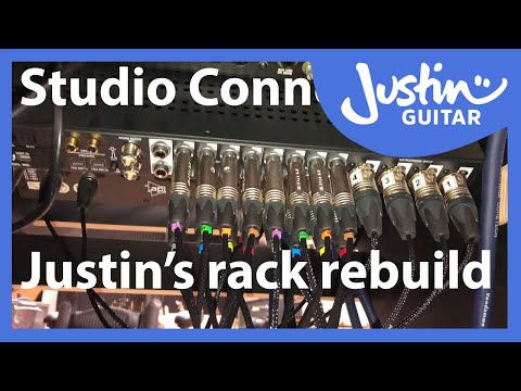Justin's studio rebuild - connecting it all together! Sessiondesk Gustav patchbay apollo neve UA+