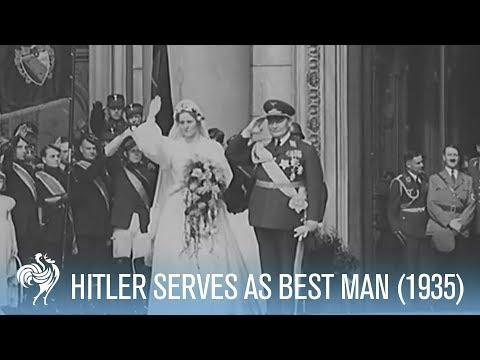 Hitler Serves as Best Man at Famous German Wedding (1935) | War Archives
