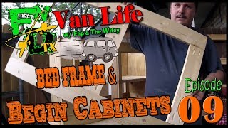 Bed Frame and Begin Cabinets