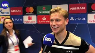 Frenkie de Jong na Juventus - Ajax: ''We staan niet onterecht in de halve finale''