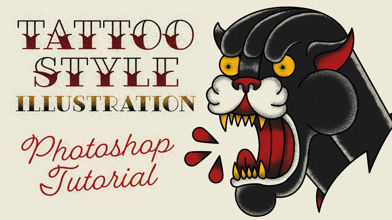 Illustration Tattoos: Old School Tattoo Style Illustration Effect Photoshop