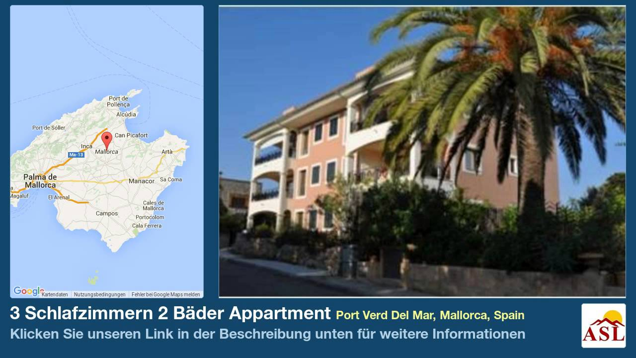 3 Schlafzimmern 2 B 228 Der Appartment Zu Verkaufen In Port Verd Del Mar Mallorca Spain Youtube