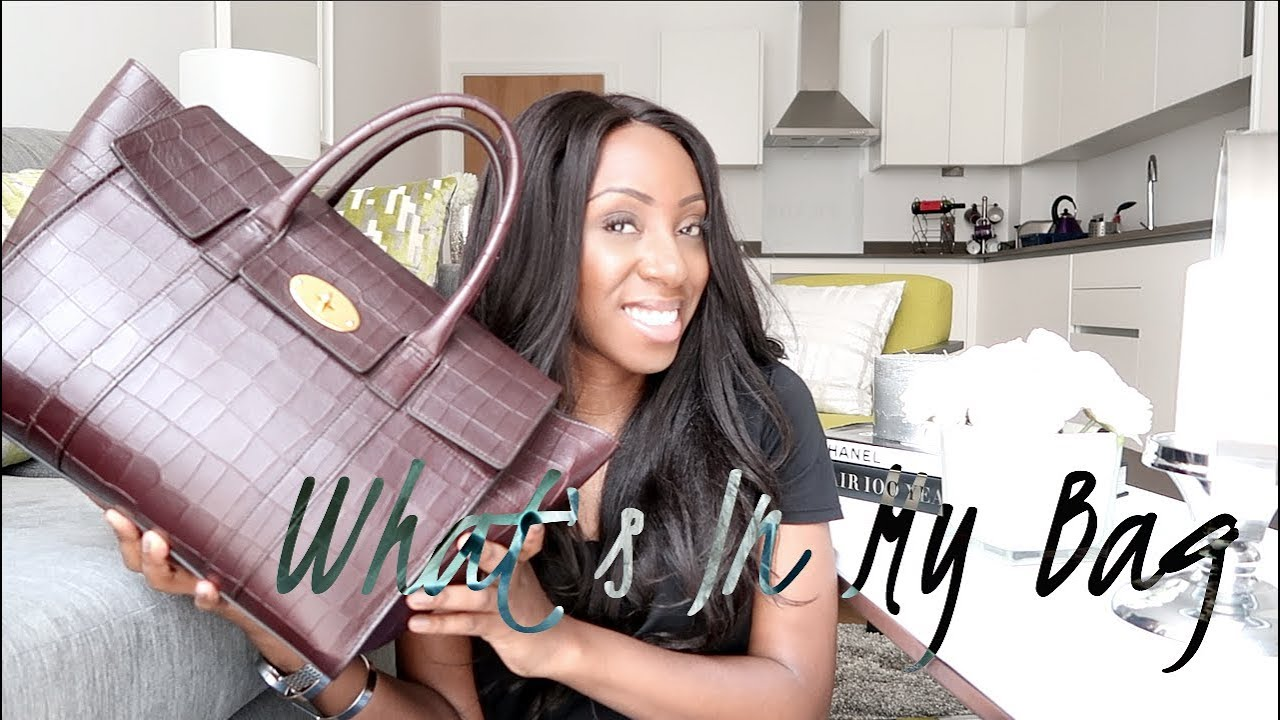 172deb02399f WHATS IN MY HANDBAG - MULBERRY BAYSWATER CROC EFFECT