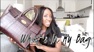 WHATS IN MY HANDBAG - MULBERRY BAYSWATER CROC EFFECT | Style With Substance