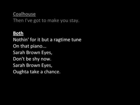 Sarah Brown Eyes (Ragtime) Male Part Only Duet / Karaoke