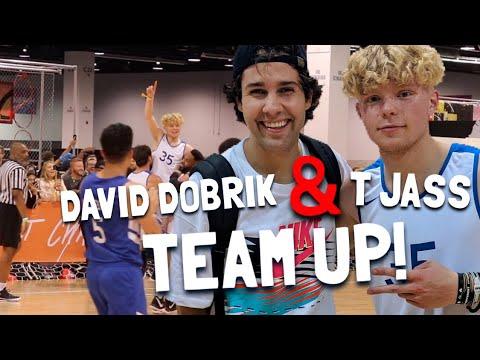 David Dobrik Assists My Half Court Buzzer Beater! Vidcon Basketball Game!