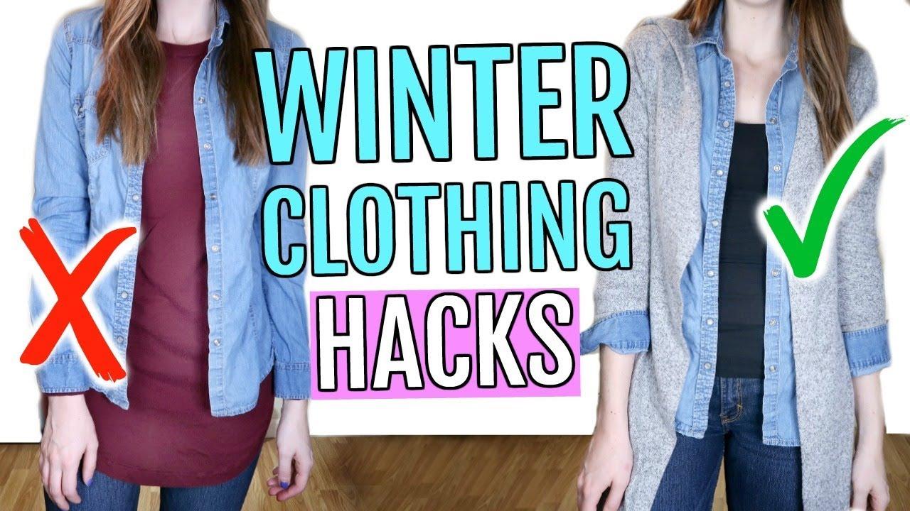 winter clothing hacks you