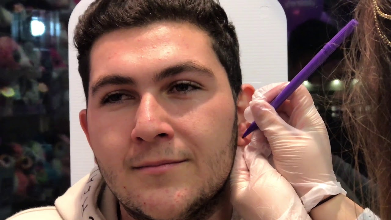 Grown Man Gets His Ears Pierced Youtube