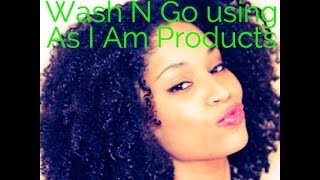 How I do a Wash n Go using As I Am Products