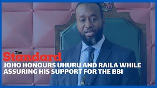 Governor Joho drums up support for BBI while addressing county assembly and honours Uhuru and Raila