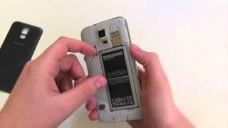 Samsung Galaxy S5 microSIM / microSD Karte einlegen