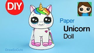 How to Make a Paper Unicorn Doll EASY | DIY