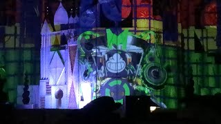"""Mickey's Mix Magic """"It's a Good Time""""  Segment Disneyland Nighttime Projection Show Small World View"""