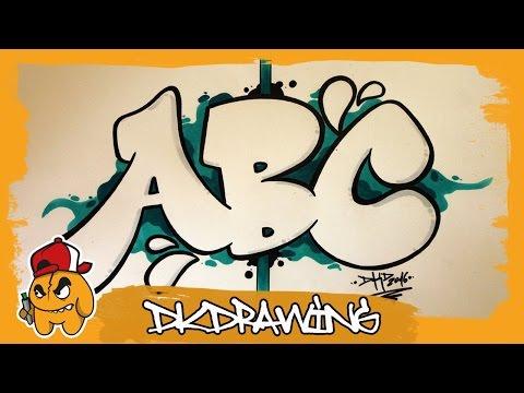 Graffiti Alphabet Tutorial - How to draw Graffiti Bubble Letters A to C
