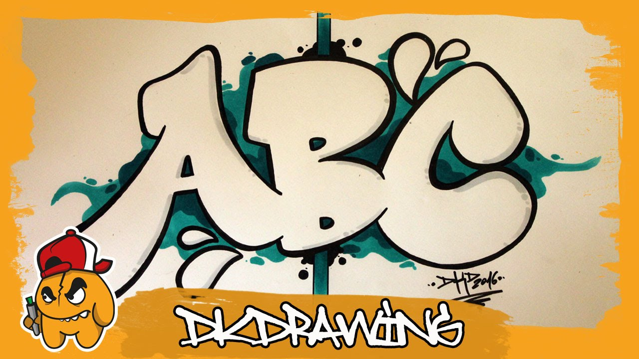 graffiti alphabet tutorial how to draw graffiti bubble letters a to c youtube