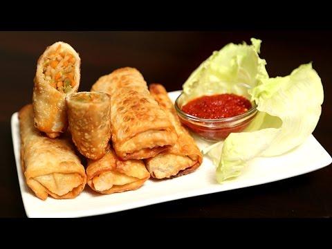 Veg Spring Roll   Quick Easy To Make Crispy Snack Recipe   Ruchi's Kitchen