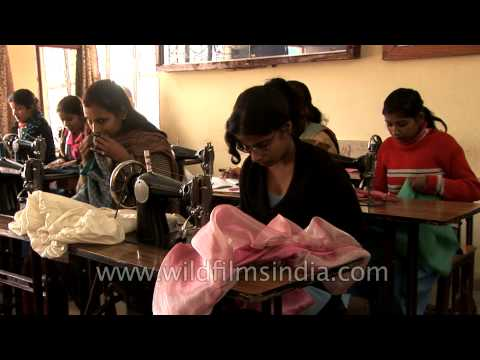 Dress designing and tailoring courses for children of scavengers in India