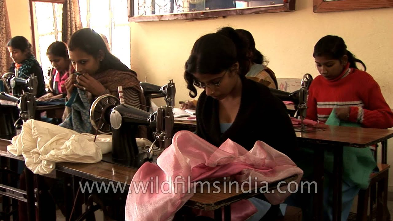 Dress Designing And Tailoring Courses For Children Of Scavengers In India Youtube