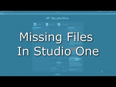 How to fix missing files in PreSonus Studio One