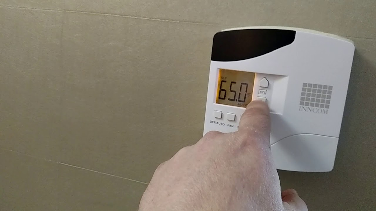 thermostat hack (override thermostat to drop temp below 65) on hotel inncom  thermostat VIP mode
