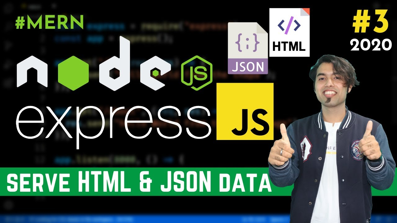 How To Send HTML & JSON Data as a Response using Express JS in Hindi